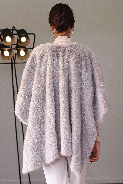 Mantelladi Visone Violet - Lunghezza 70 cm