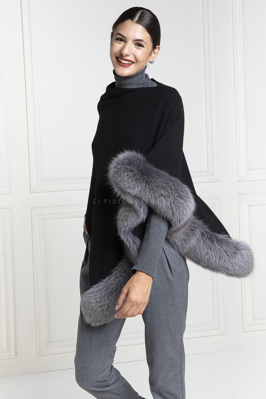 Cashmere Loro Piana Cape with Fox Fur