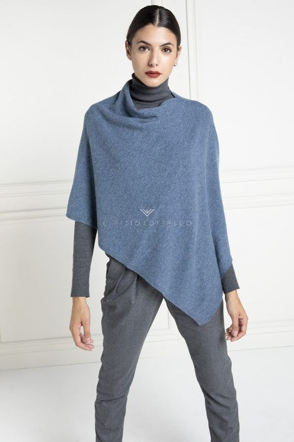 Blue Cashmere Loro Piana Cape