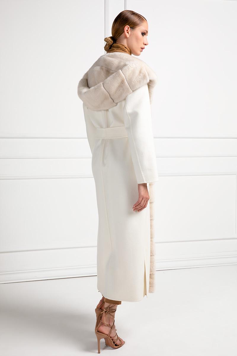 Cashmere Loro Piana Coat with Avorio Mink