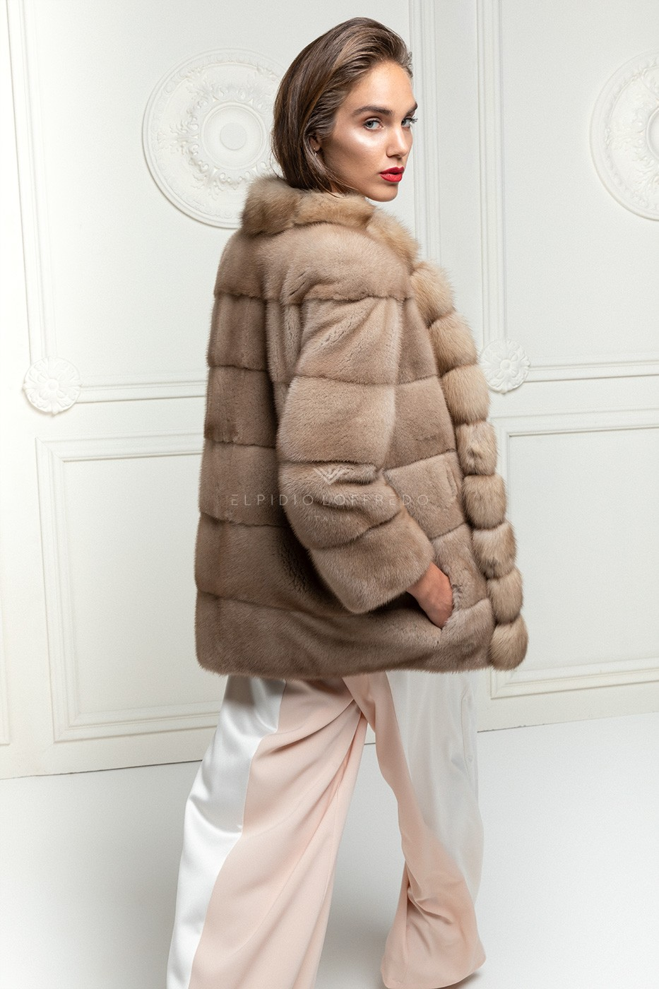 Pastel Mink Jacket with Sable