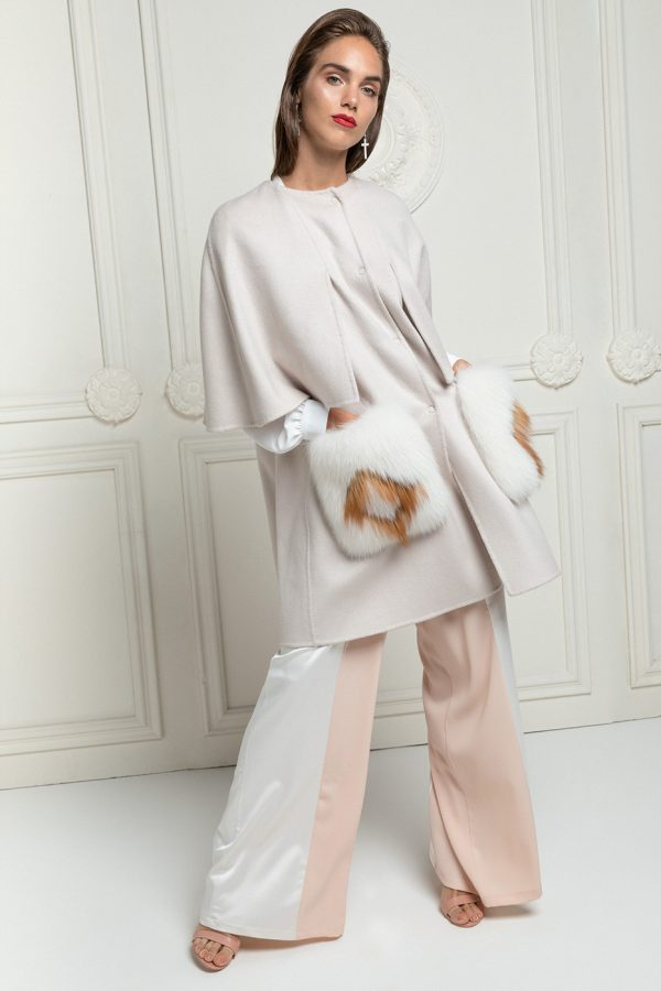 Cashmere Loro Piana Coat with Fox Fur