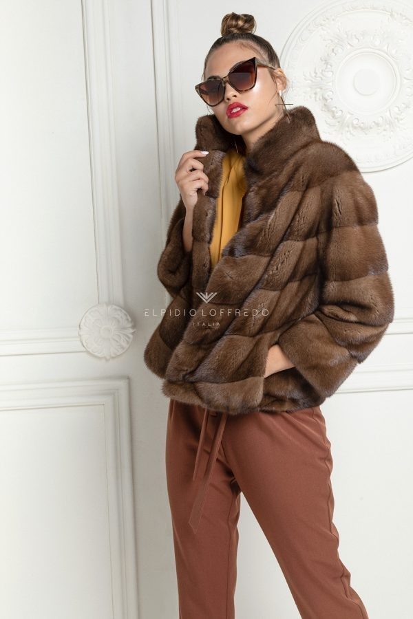 Light Brown Mink Jacket