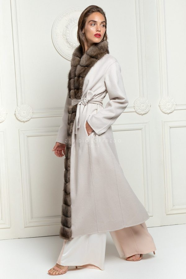 Cashmere Loro Piana Coat with Barguzinsky Russian Sable