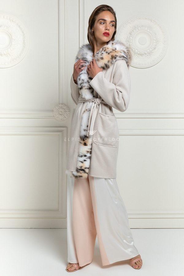 Loro Piana Cashmere Coat with Fox
