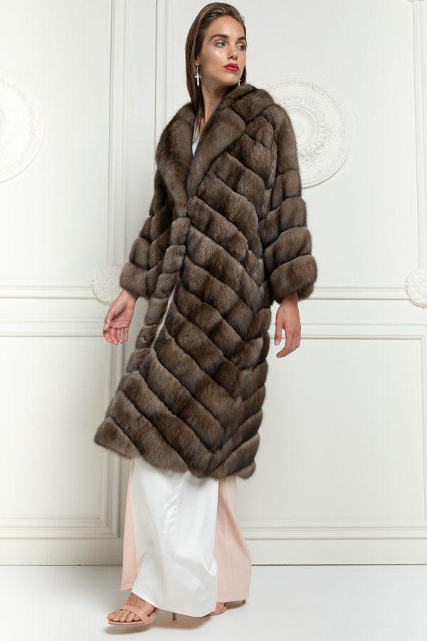 Cappotto di Zibellino Russo