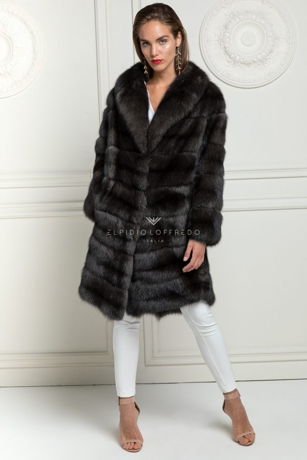 Antracite Sable Fur Coat