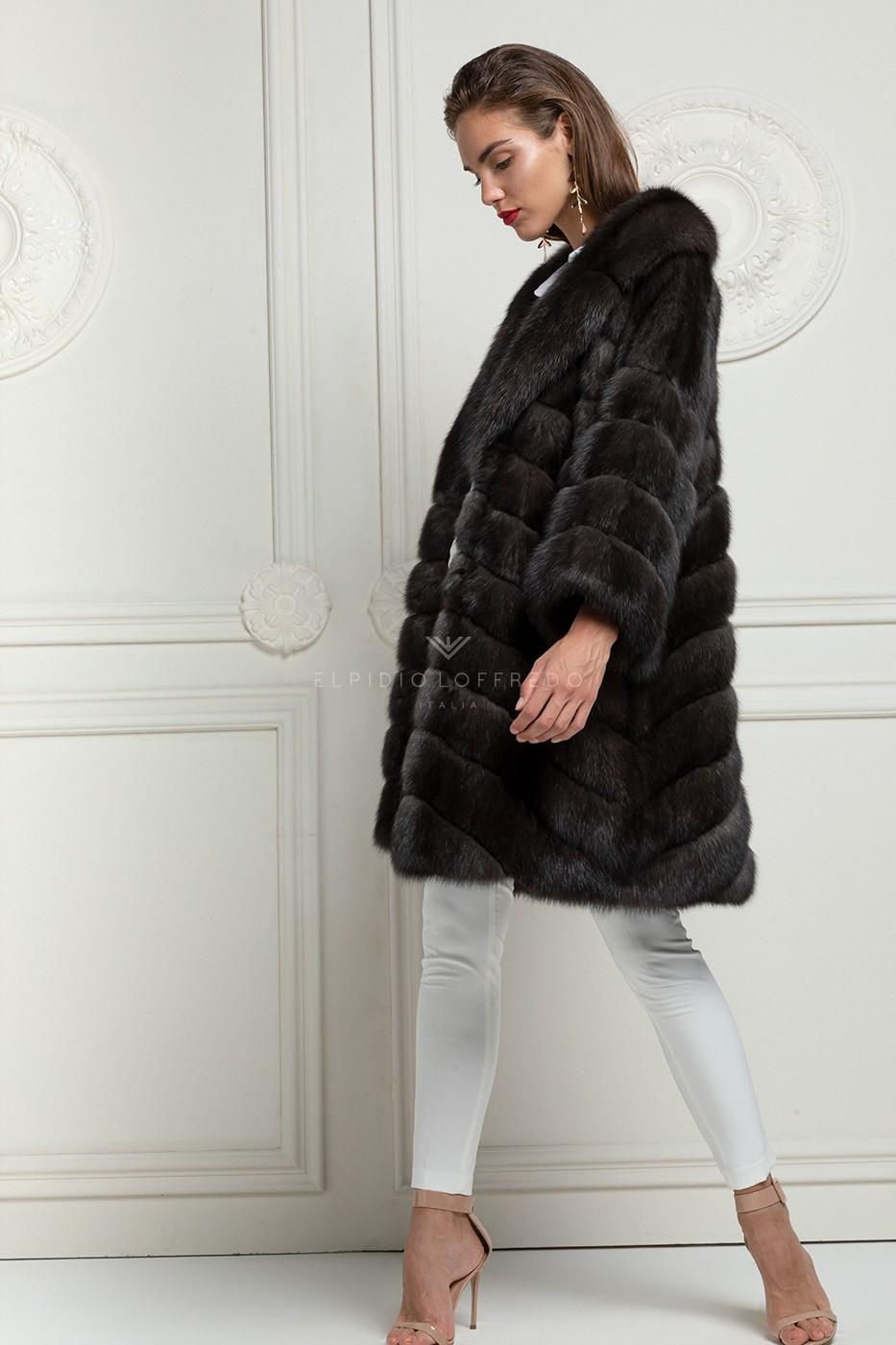 Cappotto di Zibellino Barguzinsky Antracite