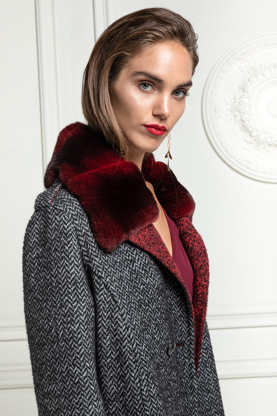 Cashmere Loro Piana Coat with Chinchilla Fur