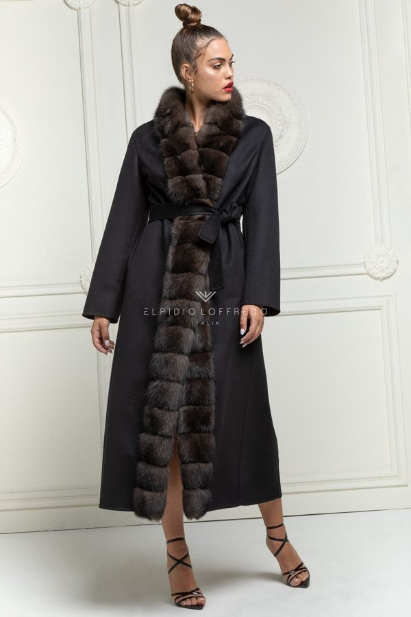 Cashmere Loro Piana Coat with Sable