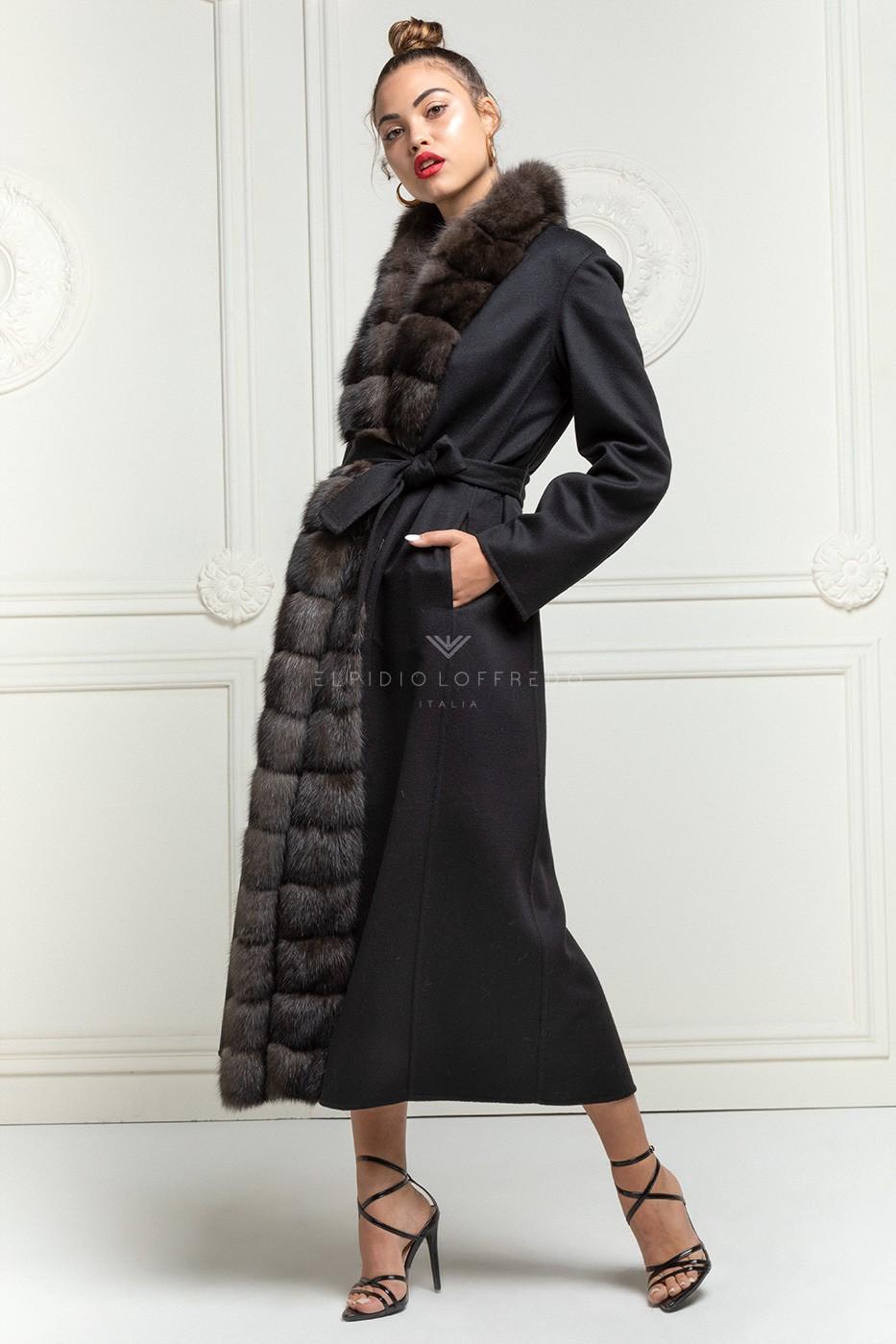 Cashmere Loro Piana Coat with Sable