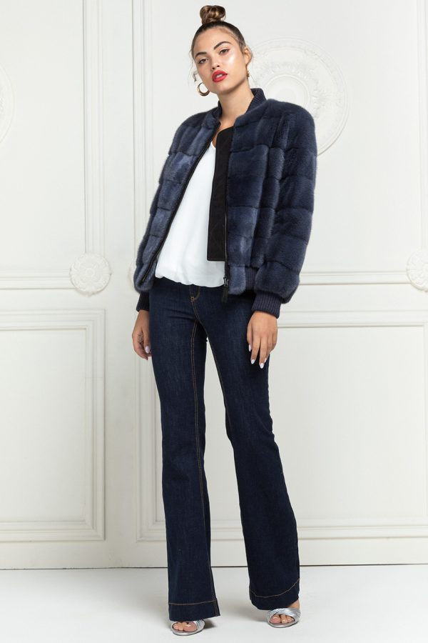 Mink Bomber with Wool