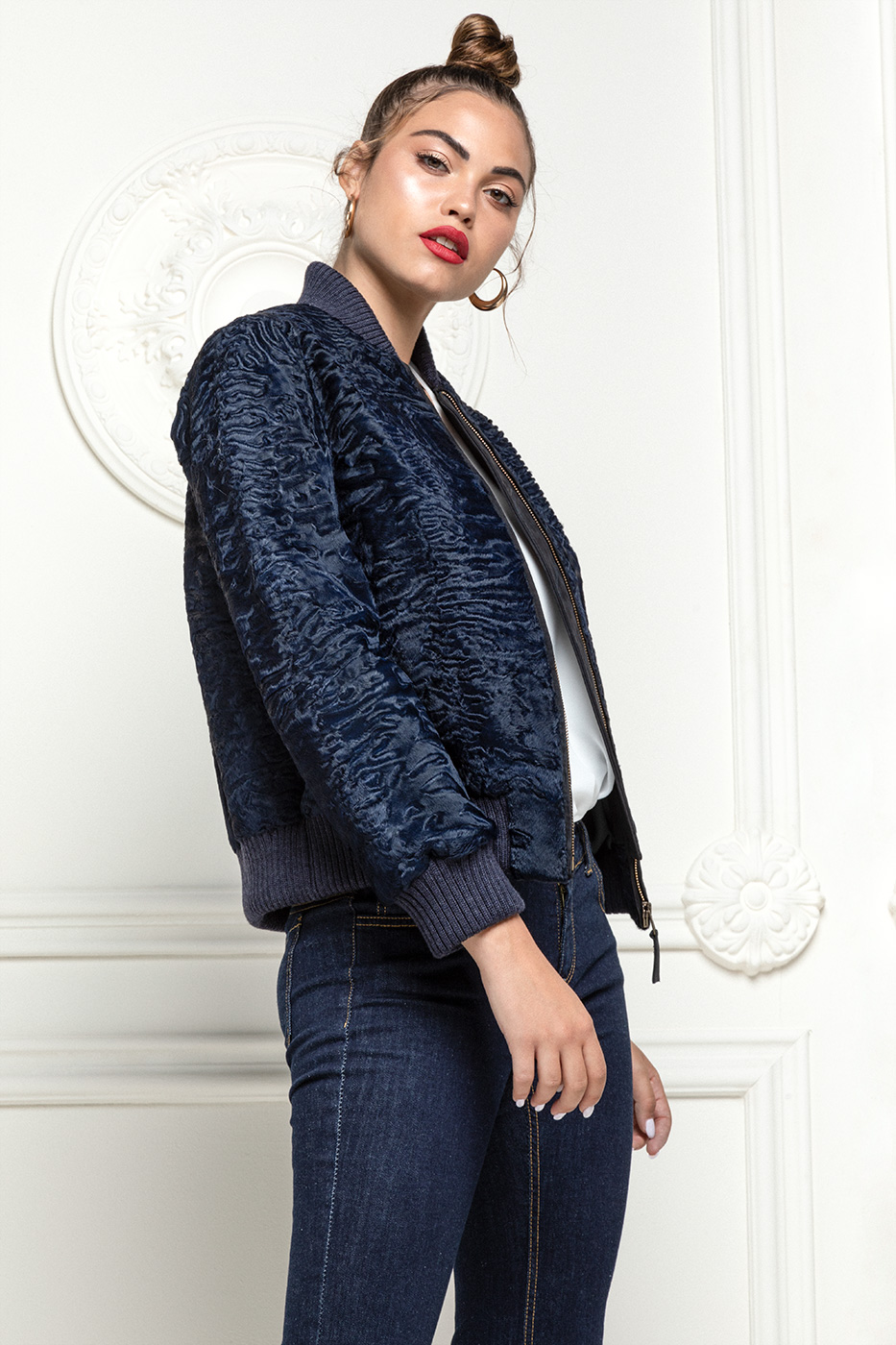 Blue Swakara Jacket