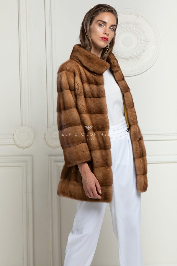Honey Mink Coat