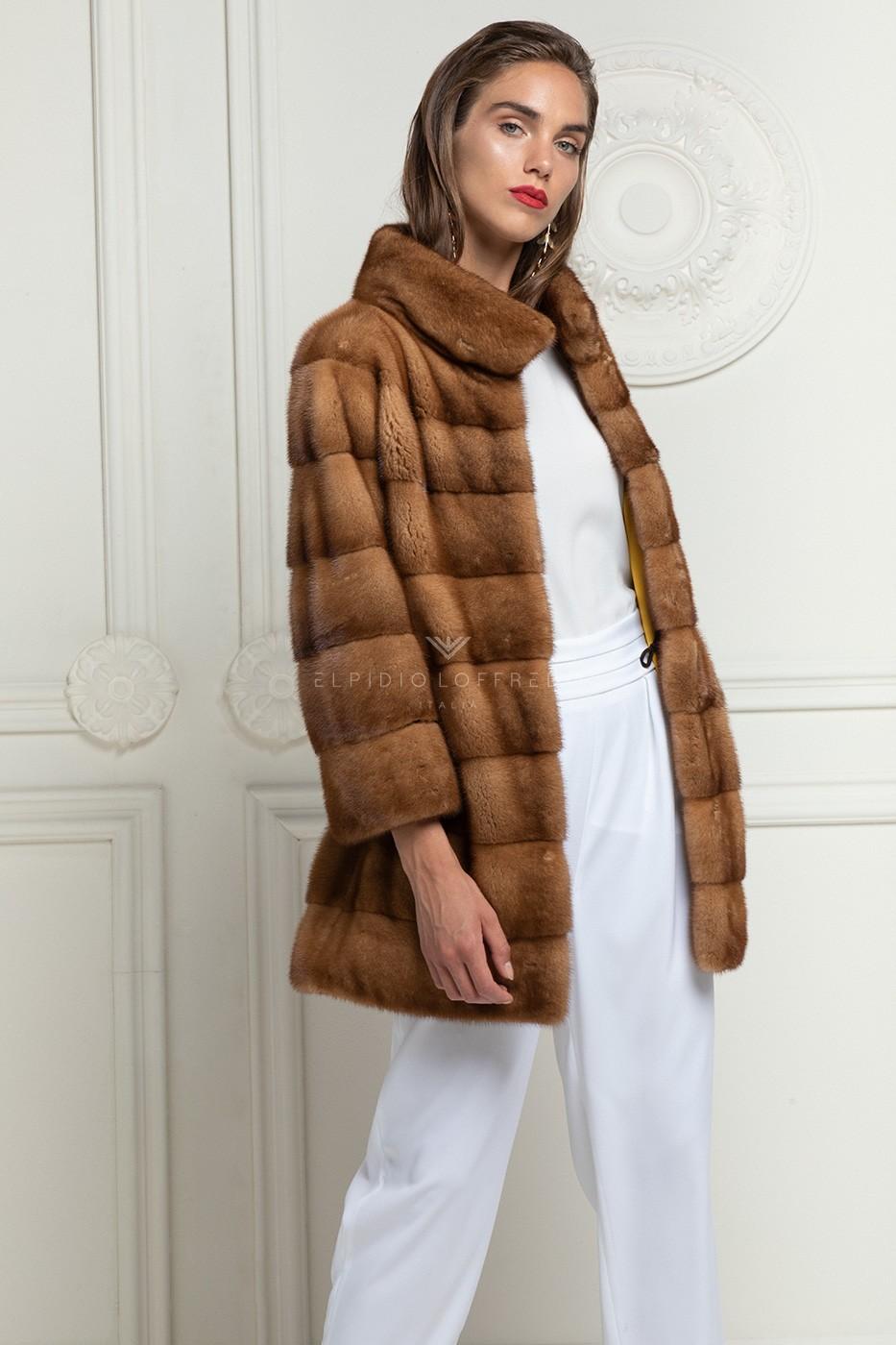 Honey Mink Coat