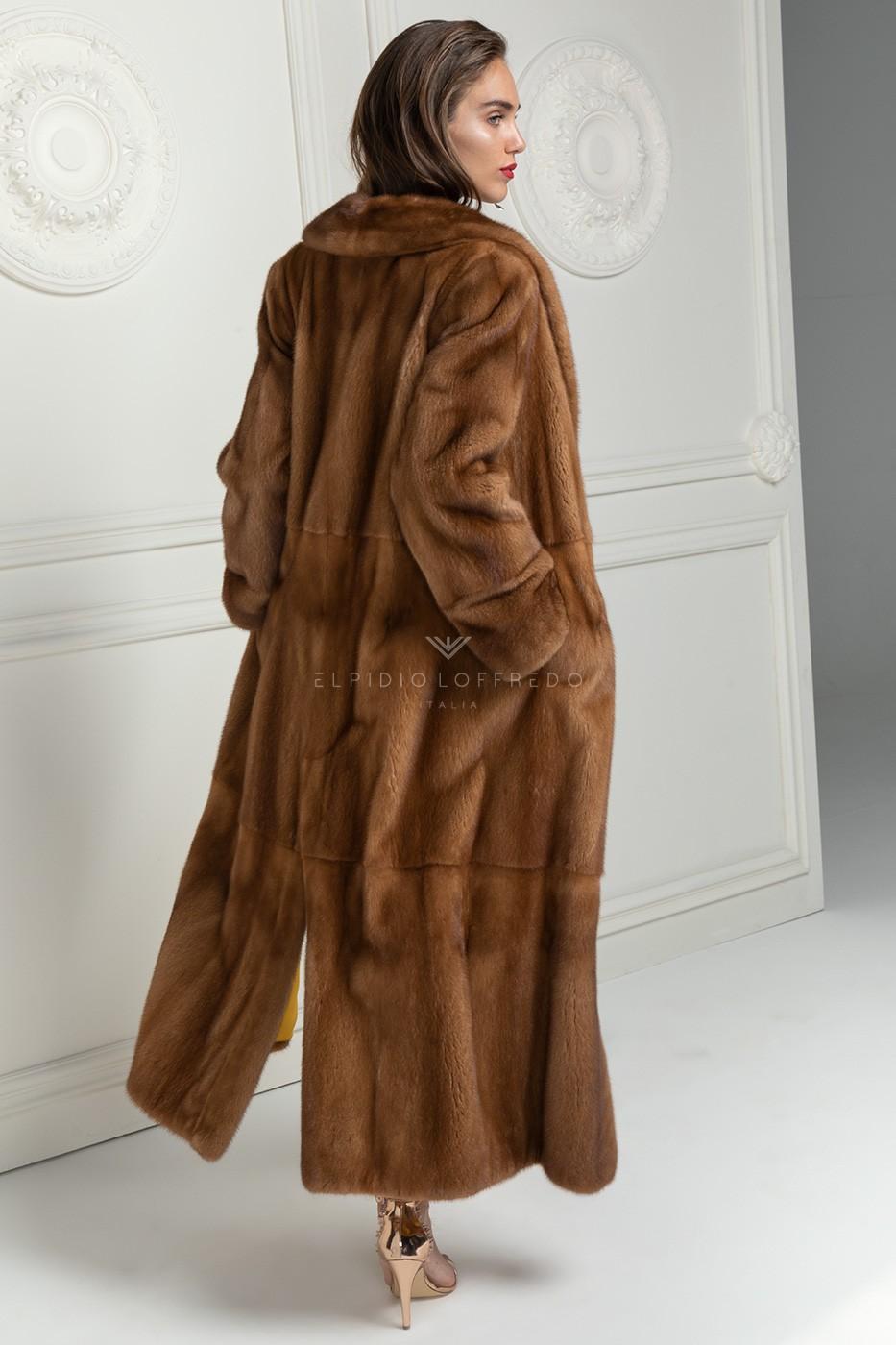 Honey Mink Coat Full Length