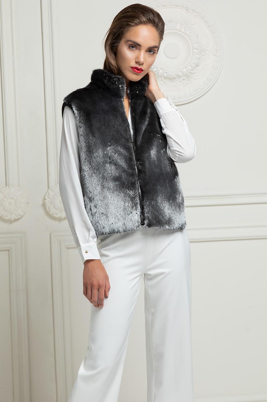 Cashmere Loro Piana with Mink Vest