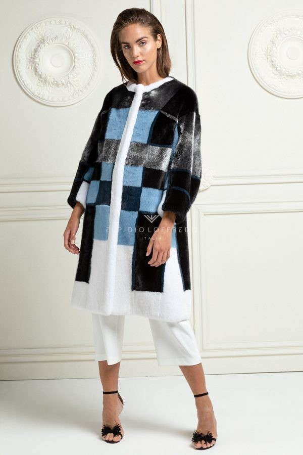 Multicolor Mink Coat