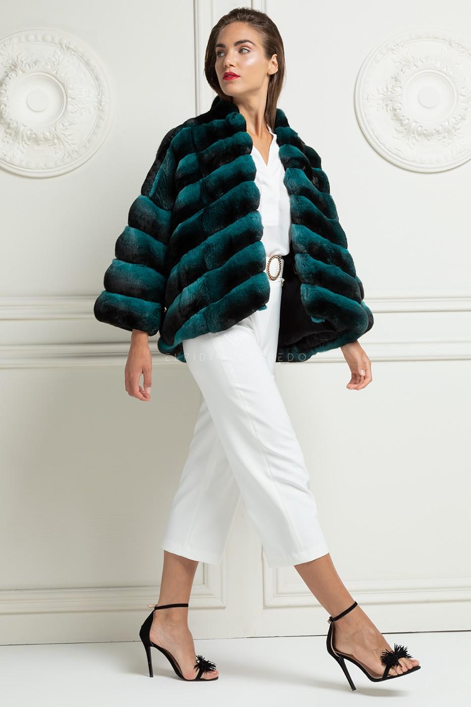 Green Chinchilla Jacket
