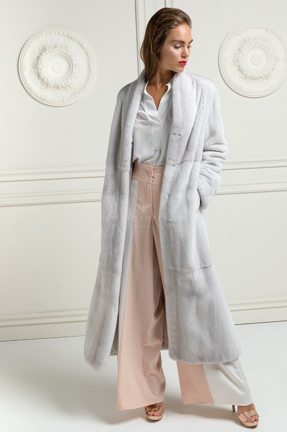 Violet Mink Coat Full Length
