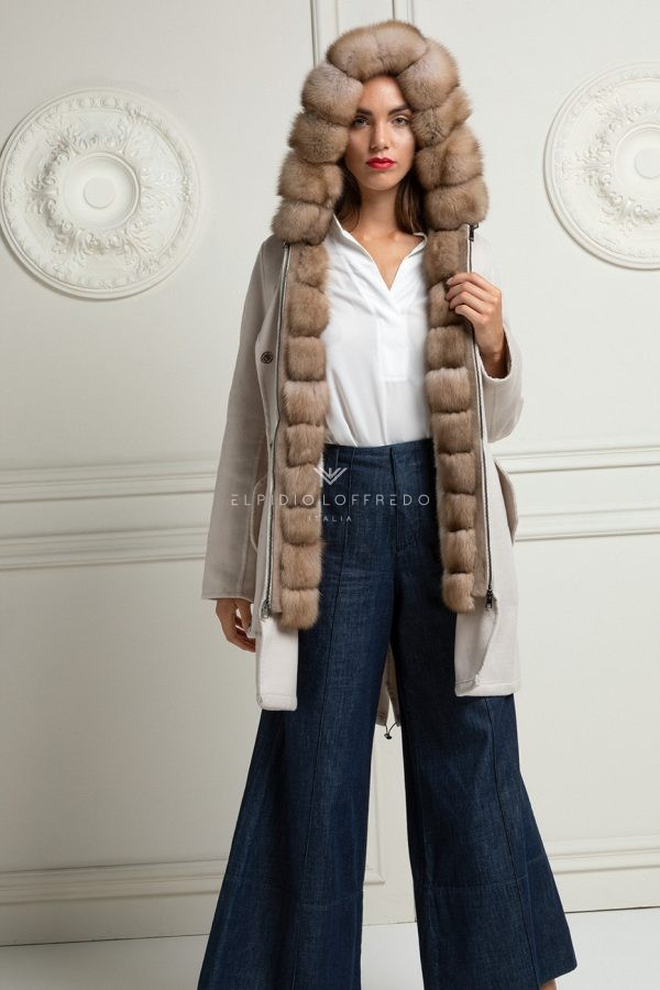 Cashmere Parka with Sable and Mink