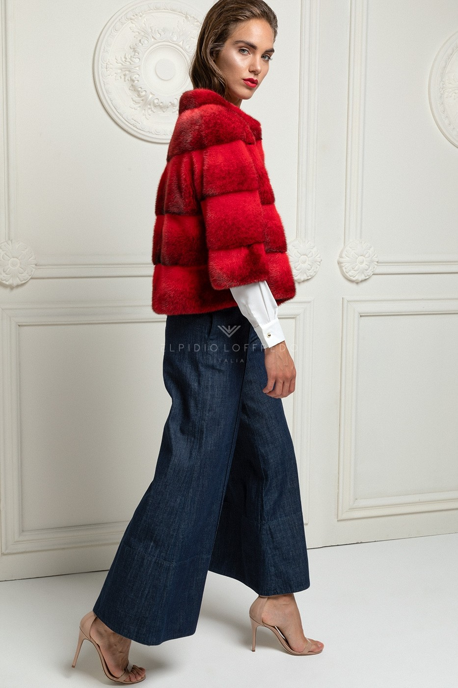 Red Cross Mink Jacket