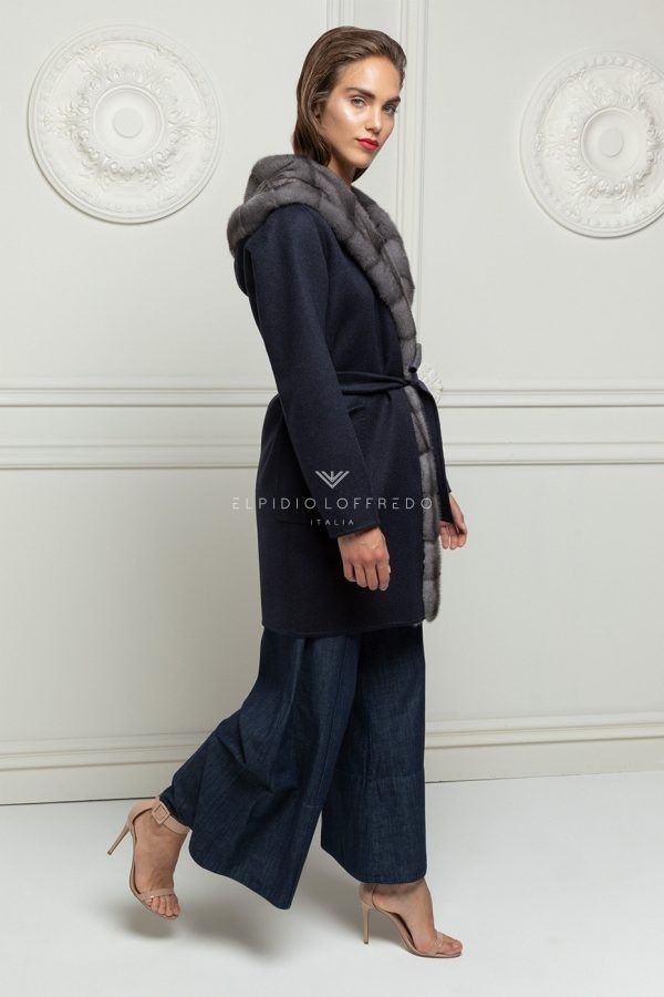 Cashmere with Blue Iris Mink