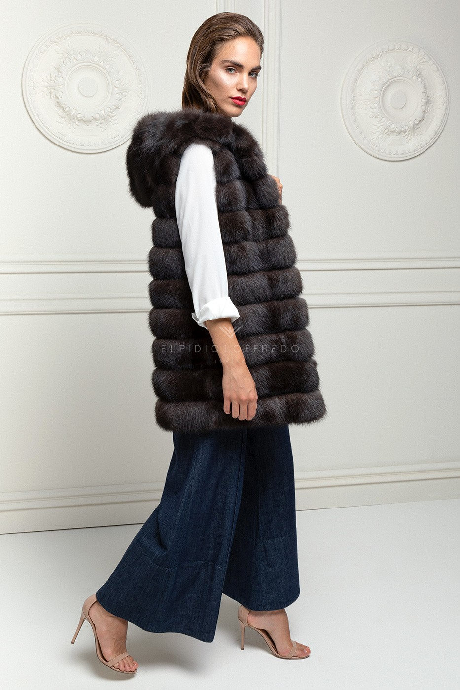 Cashmere Parka with Sable Vest