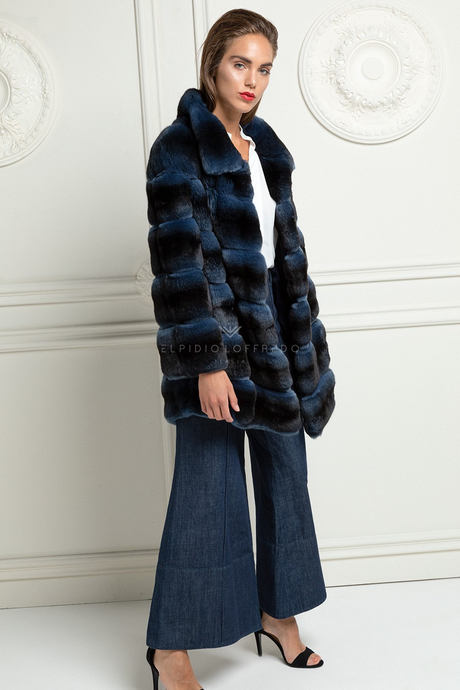 Blue Chinchilla Coat