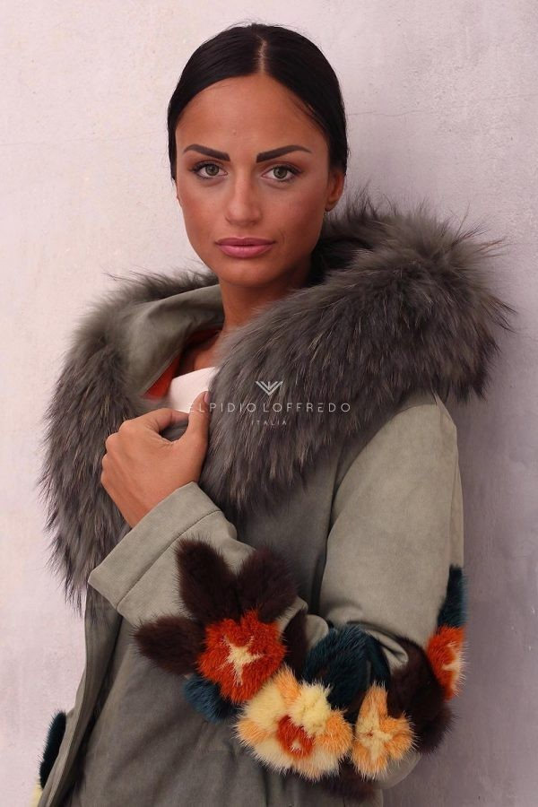 Parka with Fox and Mink