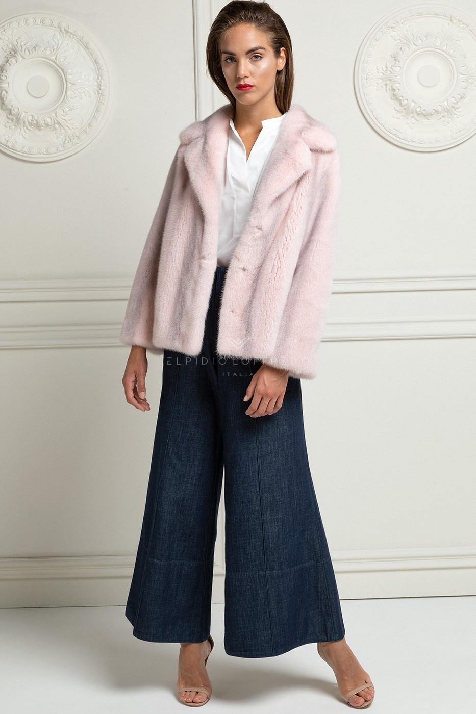 Pink Cross Mink Jacket