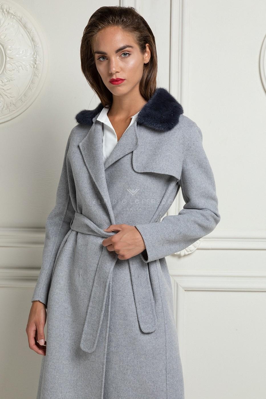 Cappotto di Lana con Visone