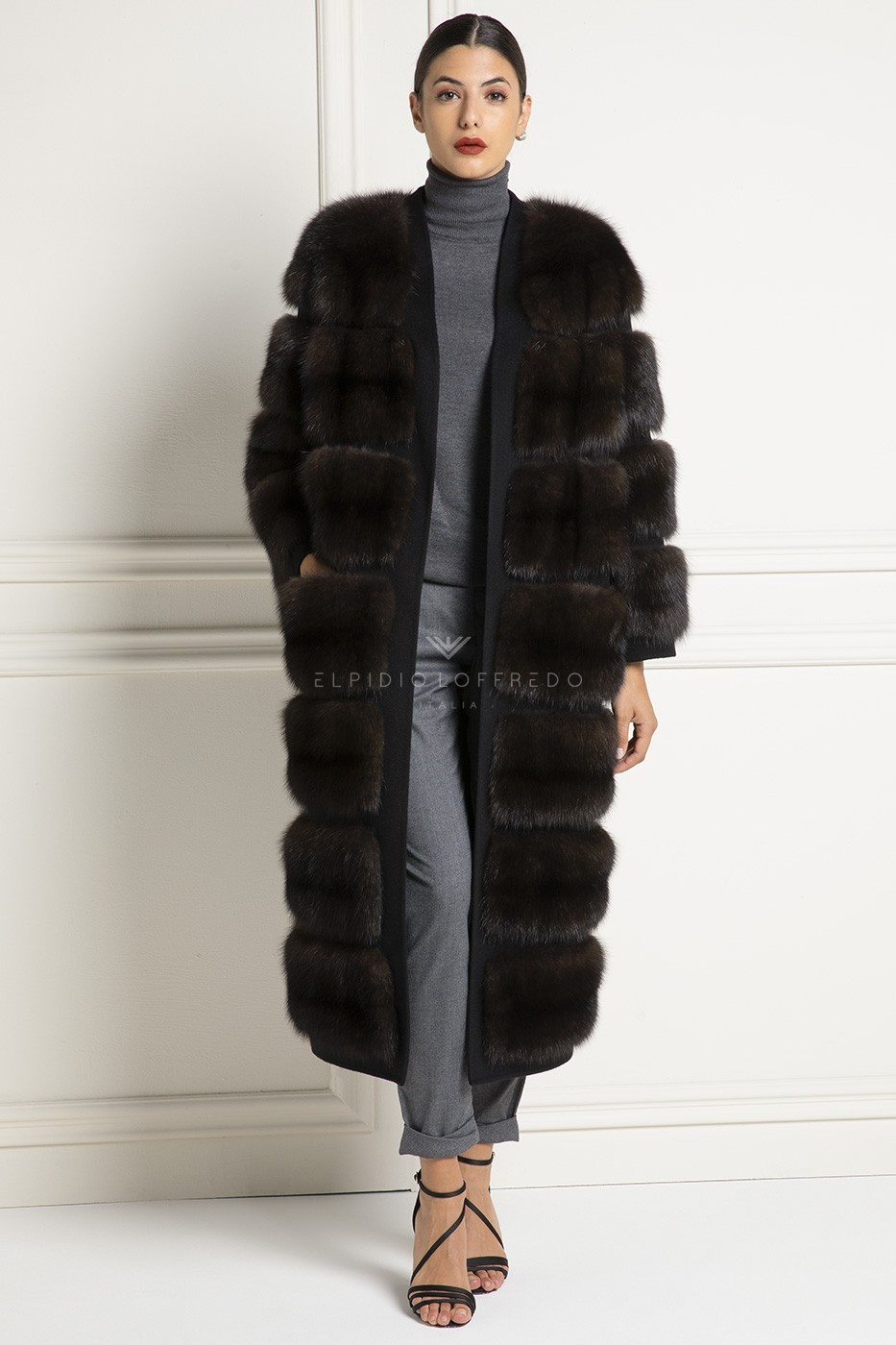 Barguzinsky Russian Sable Coat with Loro Piana Cashmere