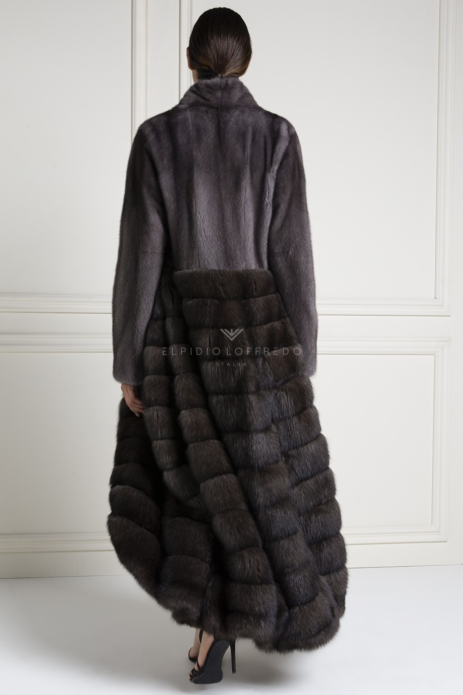 Barguzinsky Russian Sable Coat with Female Mink Fur
