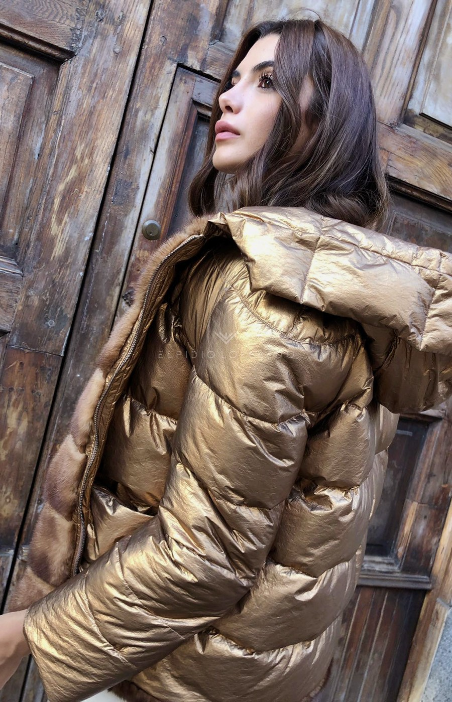 Gold Mink Jacket