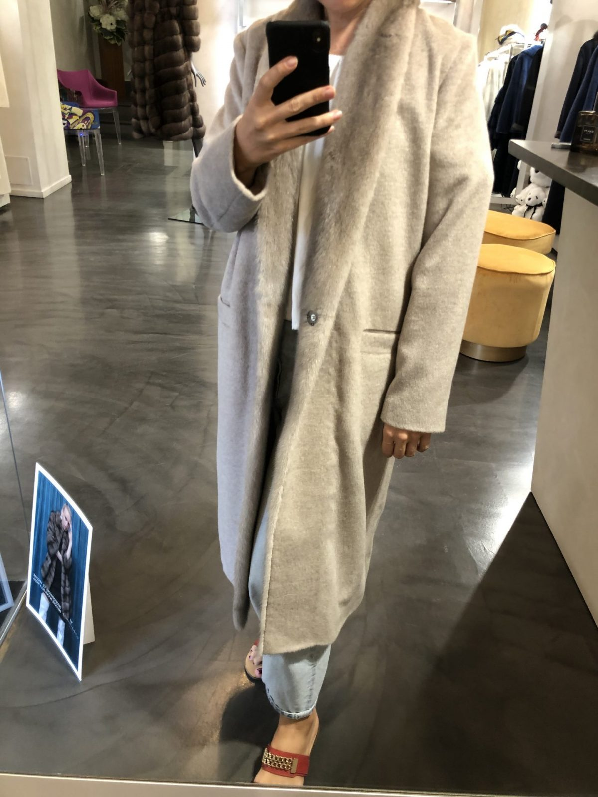 Cashmere Loro Piana Coat with Mink