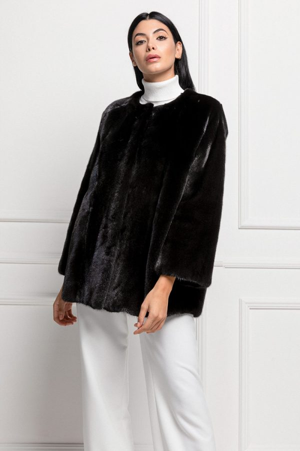 Mink Jacket Black