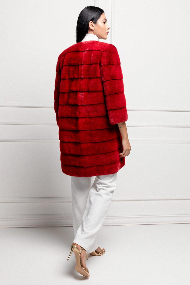 Cappotto di Visone Rosso