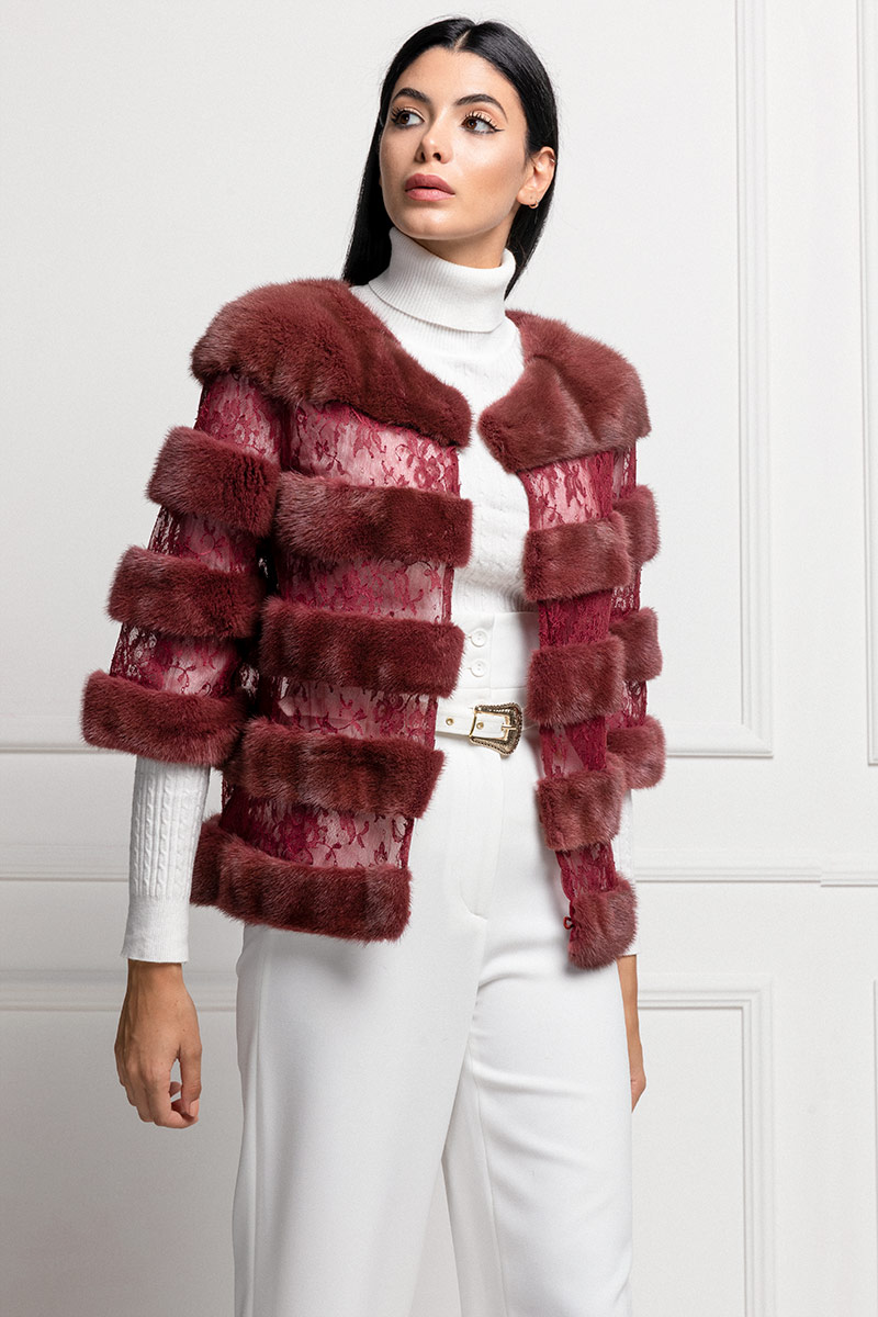 Mink Jacket with Lace
