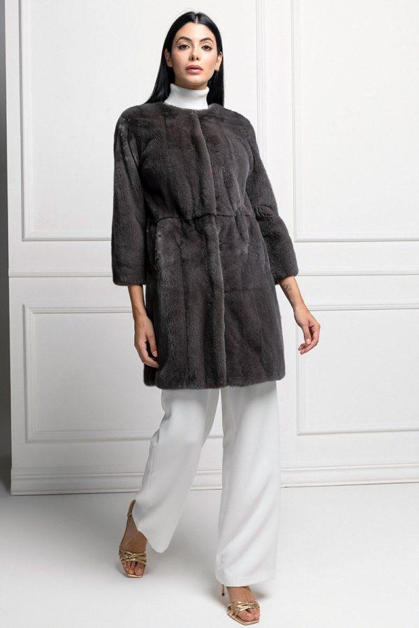Asphalt Mink Coat