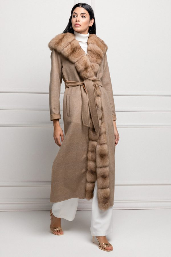 Пальто из Кашемира с Соболем