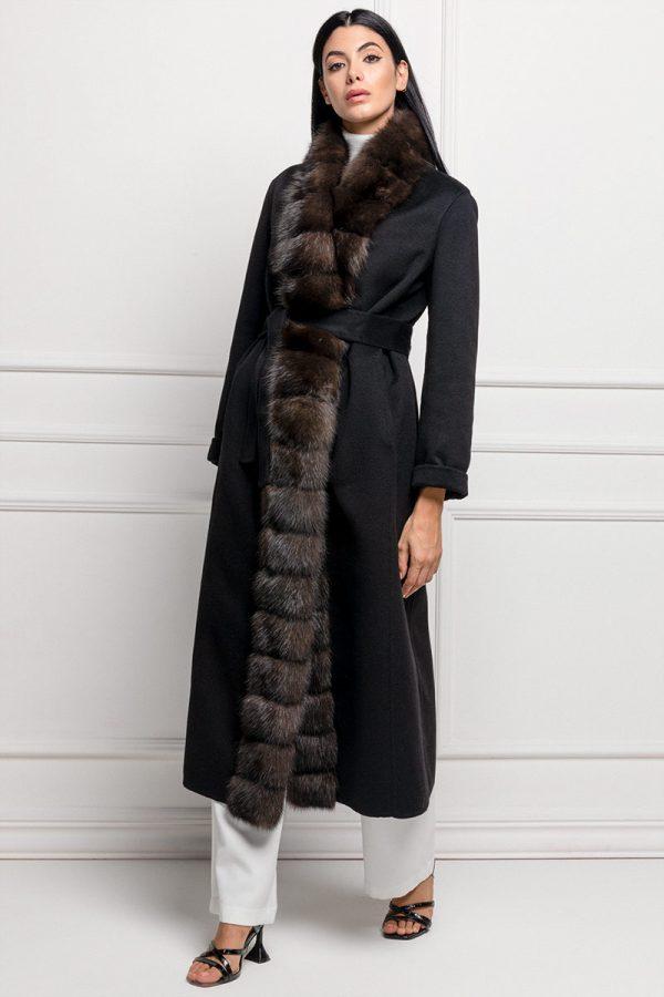 Cappotto di Cashmere Nero