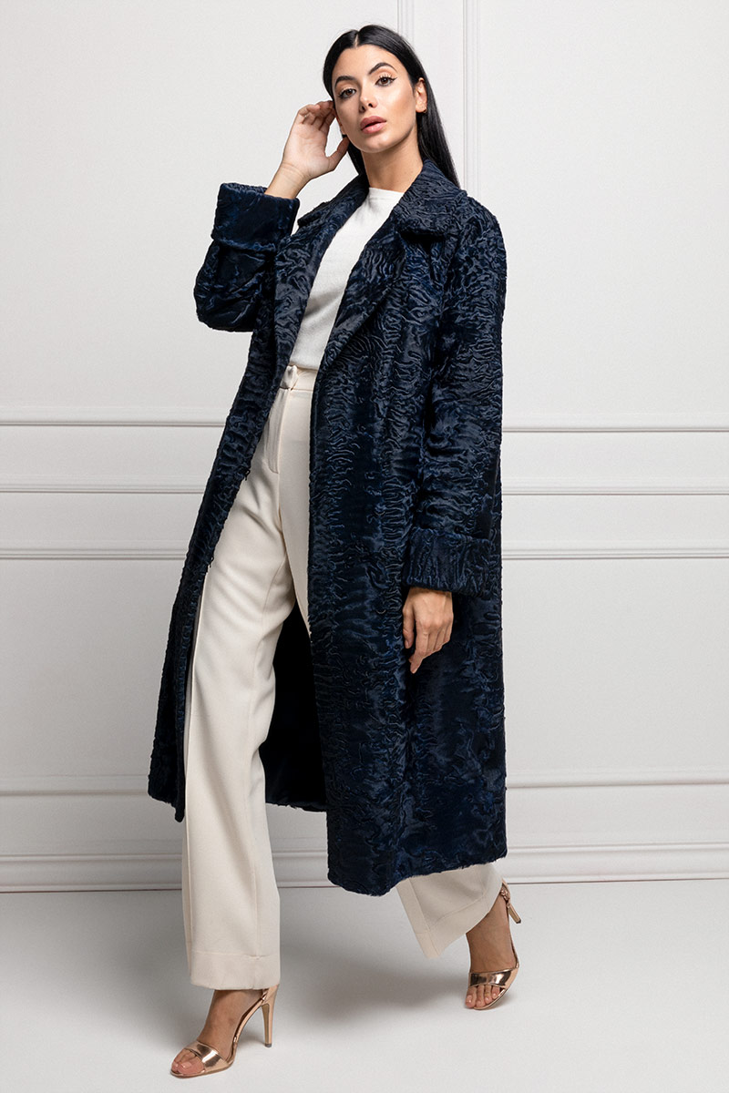 Blue Swakara Coat