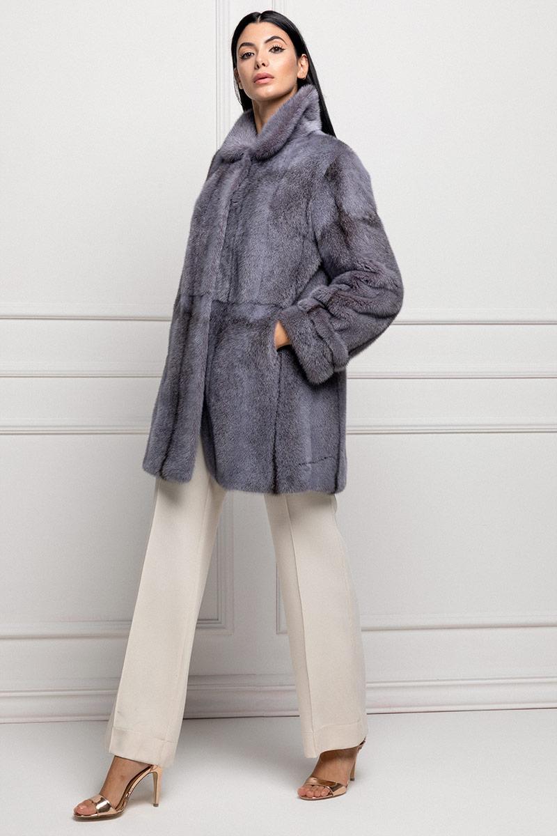 Cappotto di Visone Glicine