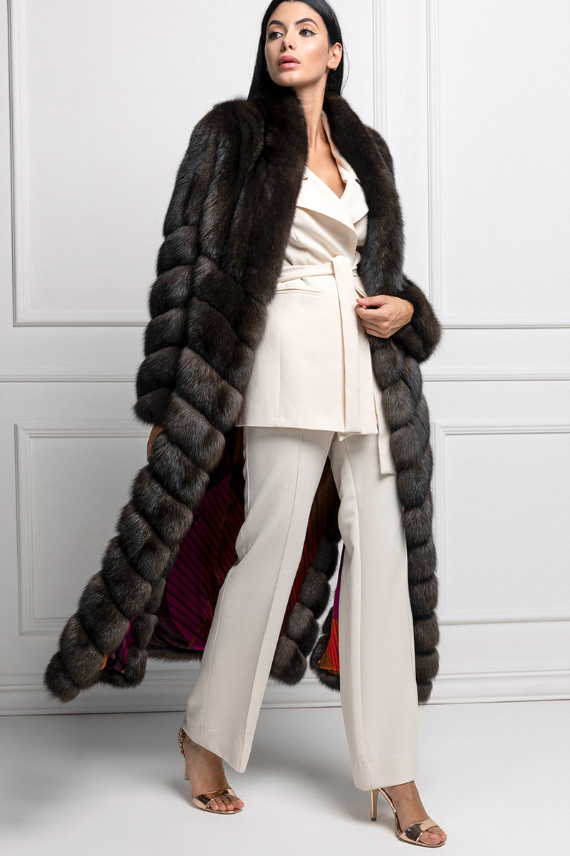 Grafite Sable Fur Coat