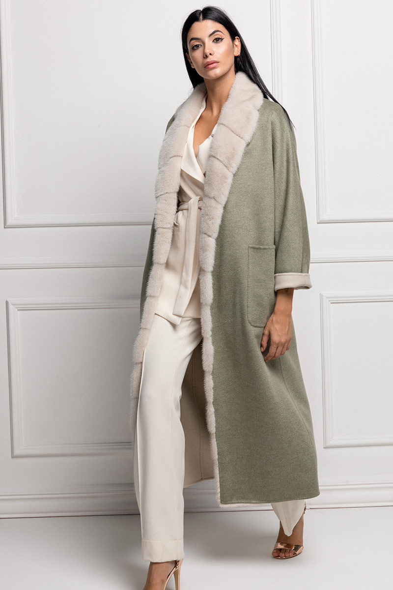 Green Cashmere with Mink
