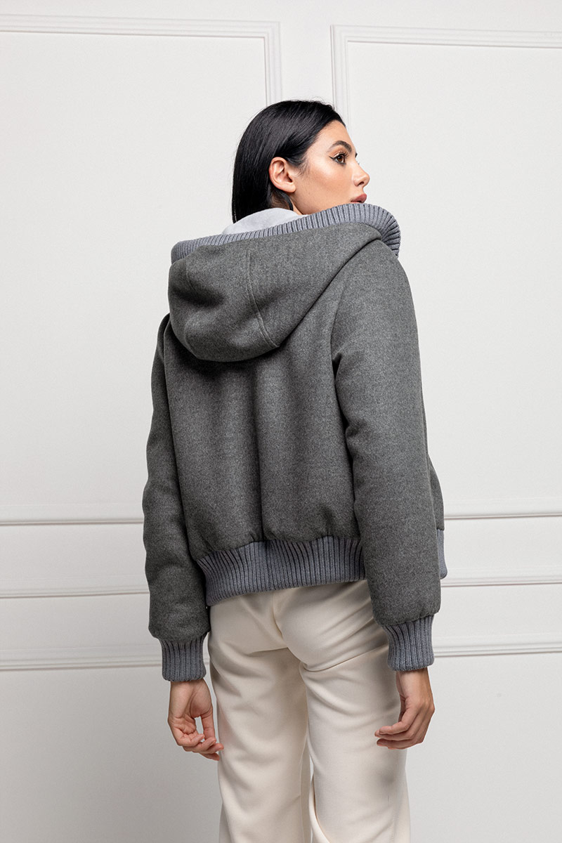 Cashmere with Sheared Mink and Hoodie