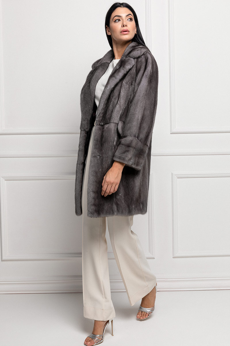 Blue Iris Mink Coat
