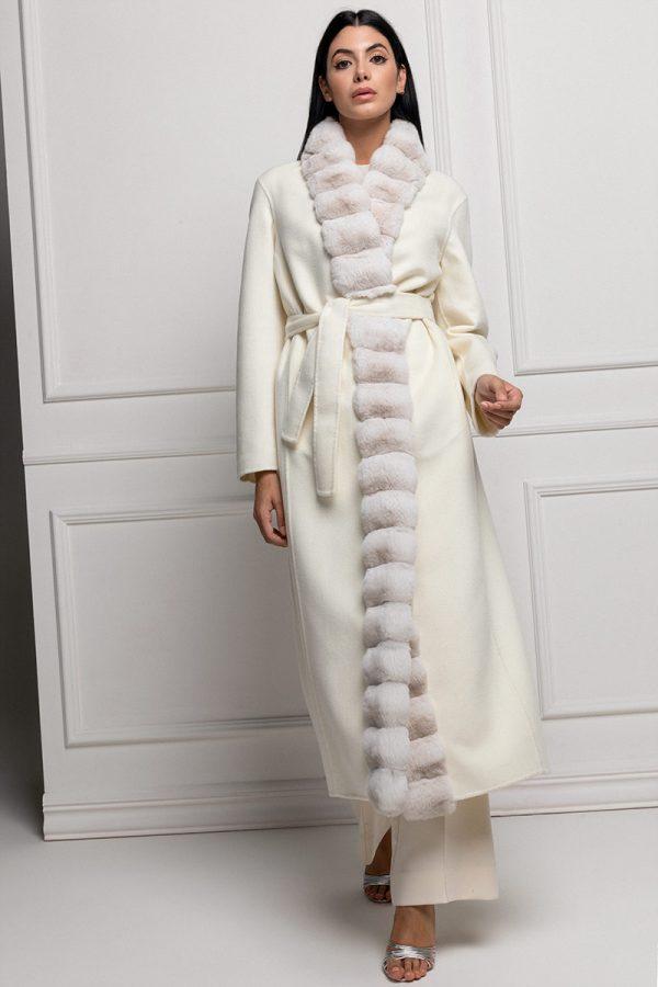 Cashmere Bianco con Cincillà