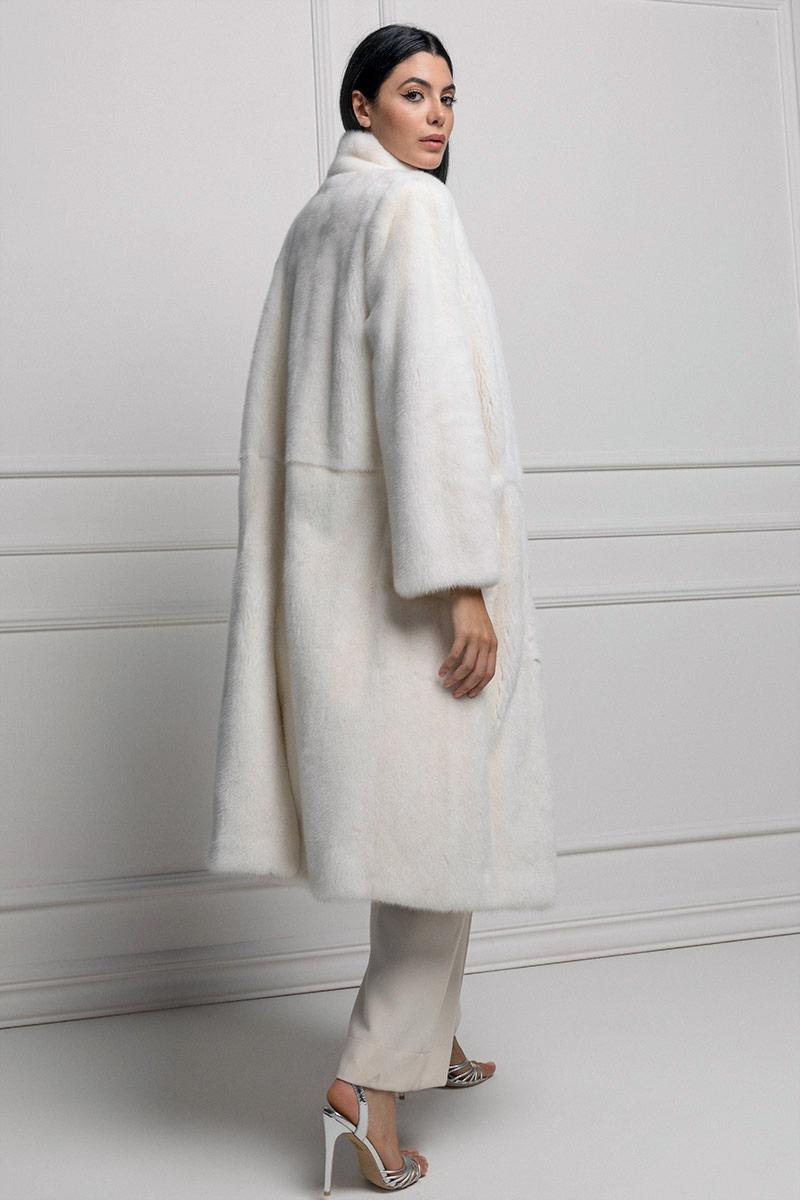 Cappotto di Visone Bianco